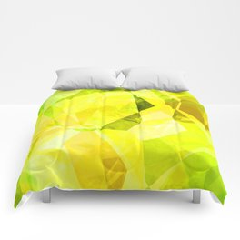 Pale Yellow Poinsettia 1 Abstract Polygons 1 Comforters