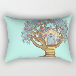Live Simply, Love Trees Rectangular Pillow