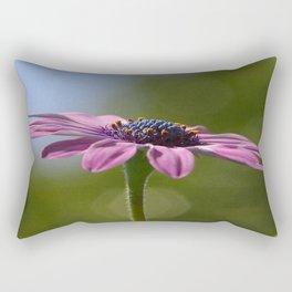 Macro Shot Of A Purple Osteospermum Rectangular Pillow