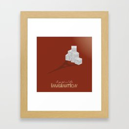 Never Forget to Play - Blocks Framed Art Print