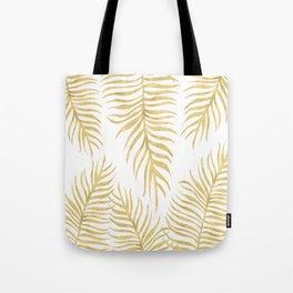 Fern Pattern Gold Tote Bag