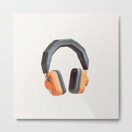Lo-Fi goes 3D - The Headphones Metal Print
