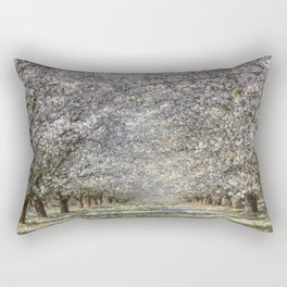 White Blossom Trees Rectangular Pillow