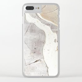 Feels: a neutral, textured, abstract piece in whites by Alyssa Hamilton Art Clear iPhone Case
