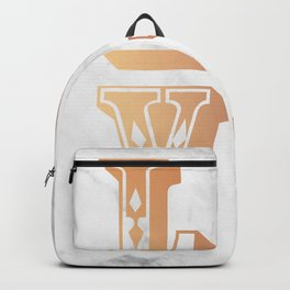Rose Gold Marble Love Circus Typography Print Backpack
