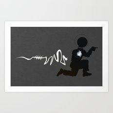 Doing the Moonwalk Backwards But Running. Art Print