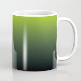 Ombre   Lime Green and Charcoal Grey Coffee Mug