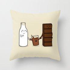 Milk + Chocolate Throw Pillow