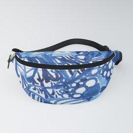 Blue summer floral pattern Fanny Pack