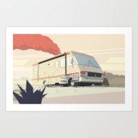 breaking Art Prints featuring Breaking Bad by Fabiano Souza