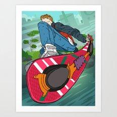 Marty Mc Fly Art Print