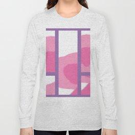 Expressive Windows of Purple Long Sleeve T-shirt