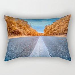 Infrared Road Rectangular Pillow