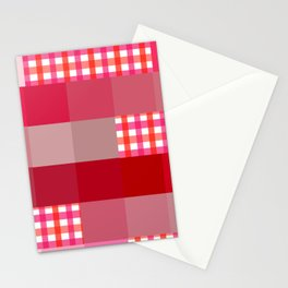 Pixels And Gingham II Stationery Cards