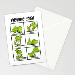 T-Rex Yoga for Women & Men | Namaste Om Dinosaur Light Stationery Cards