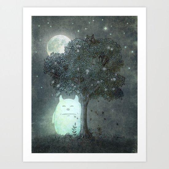 Full Moon Spirit  Art Print