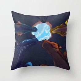 Hole sky Throw Pillow