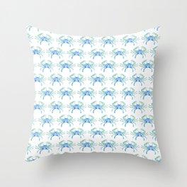 Ocean Blue Crab Throw Pillow