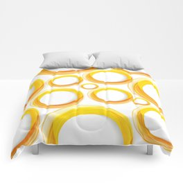 Yellow Cicles 01 Comforters