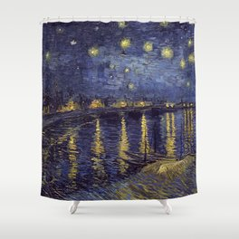Vincent Van Gogh Starry Night Over The Rhone Shower Curtain