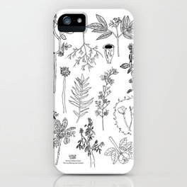Botanical Drawings by young school kids artists, profits are donated to The Ivy Montessori School iPhone Case
