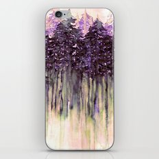 NORTHWEST VIBES Colorful Watercolor Painting Forest Trees Violet Green Modern Nature Art West Coast  iPhone & iPod Skin