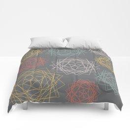 Dark Pastel Origami Blooms Comforters