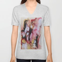Abstract 1 by Saribelle Unisex V-Neck