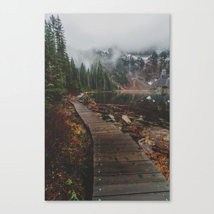 Foggy Lake 22, Washington Canvas Print
