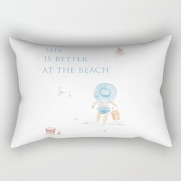 Life Is Better At The Beach Rectangular Pillow