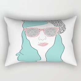 Typographic portrait Rectangular Pillow
