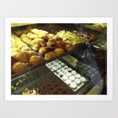 the pastrycase Art Print
