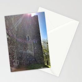 Full sun at Doune Castle Stationery Cards