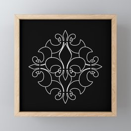 Fleur de lis ...Five Reversed Framed Mini Art Print