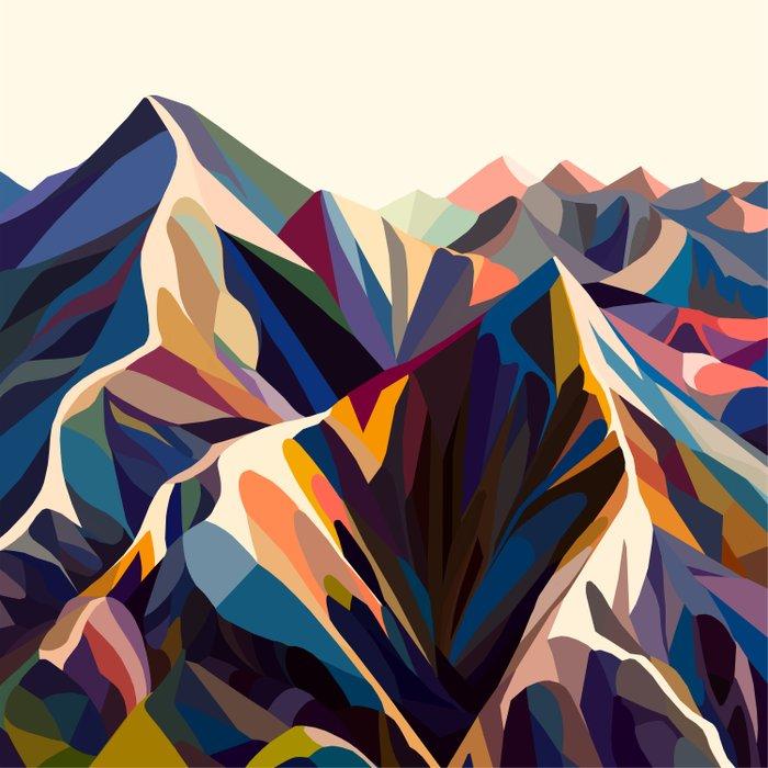 Mountains original Duvet Cover