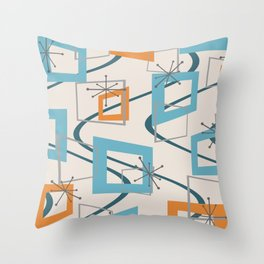 Mid Century Modern Minimalism Throw Pillow