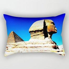 Sphinx and Pyramid Rectangular Pillow
