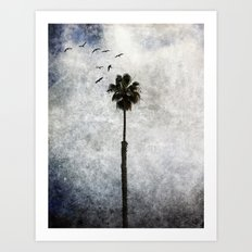 Palm Tree Birds Art Print