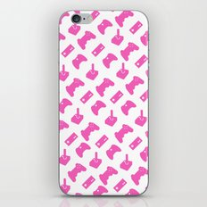 Gamer  - Pink on White iPhone & iPod Skin