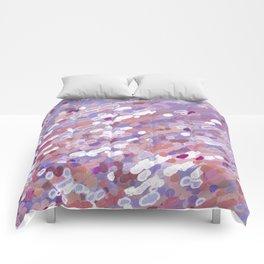 Violet Wave Reflections Comforters