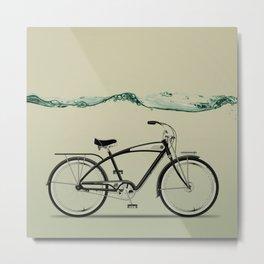 wet wheels Metal Print