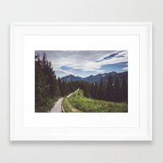 Greetings from the trail Framed Art Print