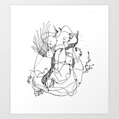 Hallowed - Black and White Drawing Art Print