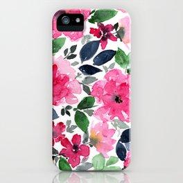 Fuschia Garden iPhone Case