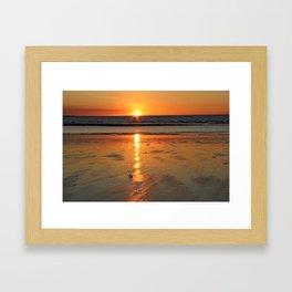 Tropical Beach Sunset Framed Art Print