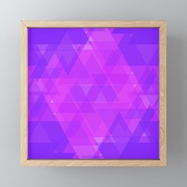 Bright purple and pink triangles in the intersection and overlay. Framed Mini Art Print