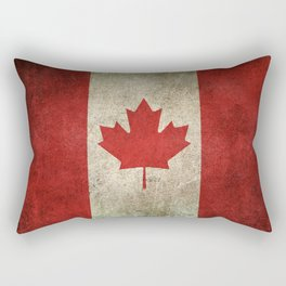 Old and Worn Distressed Vintage Flag of Canada Rectangular Pillow
