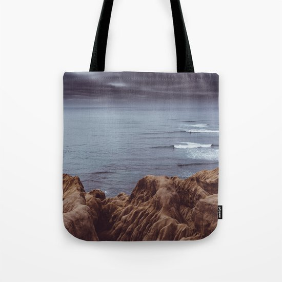 Sunset Cliffs Storm Tote Bag
