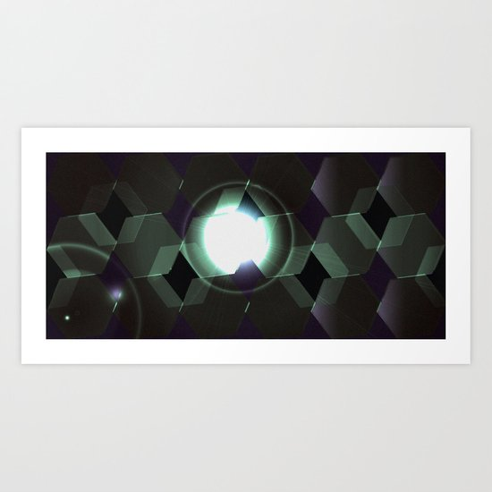 Retro Rockets Art Print