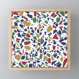 Terrazzo Spot Color on White Framed Mini Art Print